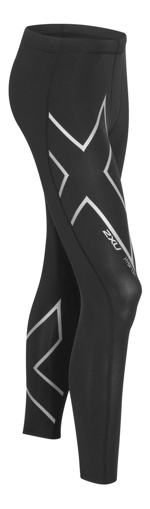 Mens 2XU Hyoptik Compression Tights & Leggings Pants - Black/Silver XXL