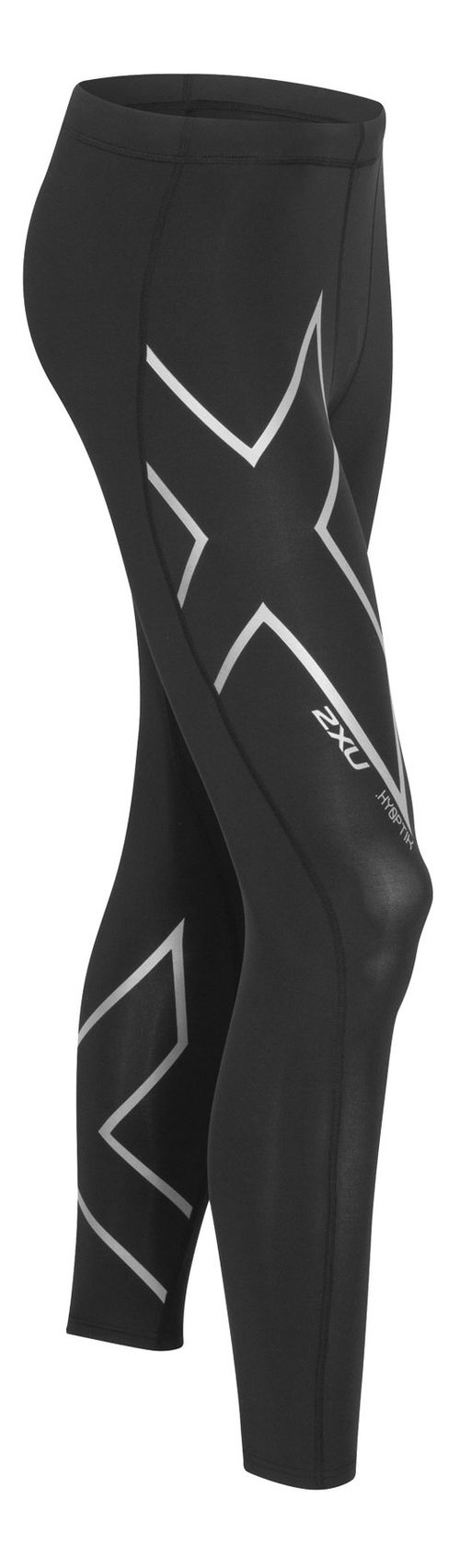 Mens 2XU Hyoptik Thermal Compression Full Length Tights - Black/Silver L