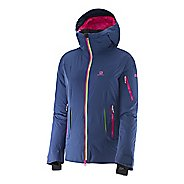 Womens Salomon Soulquest BC Down Warm Up Hooded Jackets