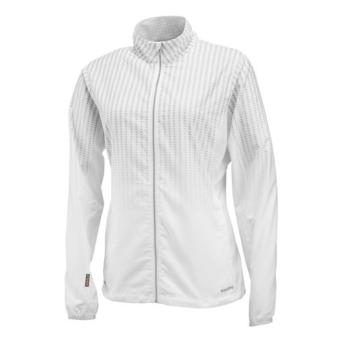Mens Saucony Sonic Reflex Warm Up Unhooded Jackets - White L