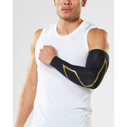 2XU Elite MCS Compression Arm Guards Injury Recovery - Black/Gold S
