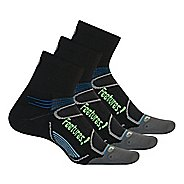 Feetures Elite Light Cushion Quarter 3 pack Socks