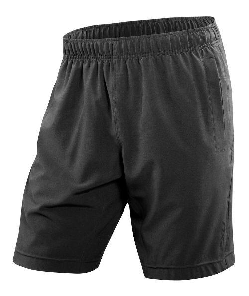 Mens 2XU Balance Lined Shorts - Black/Black XL