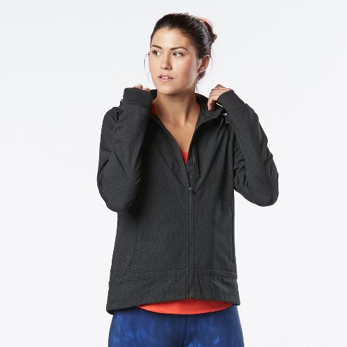 Womens R-Gear Zip To It Printed Running Jackets - Metallic Dot M