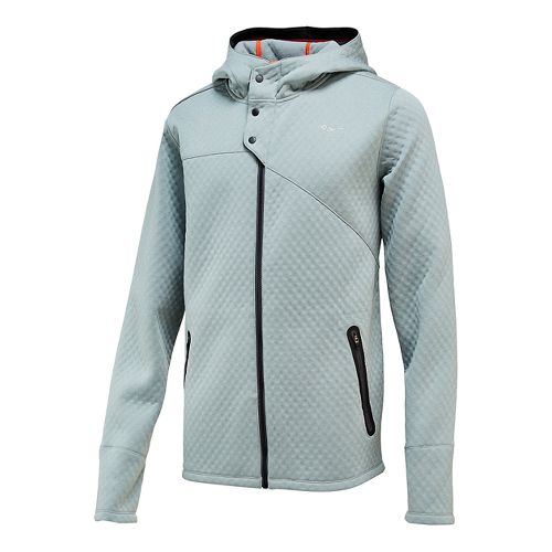 Mens Saucony Aerospacer Hoodie Lightweight Jackets - Dark Grey Heather S