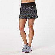 Womens R-Gear School 'Em Printed Skort Fitness Skirts - Black/Grey Mist Dot XL