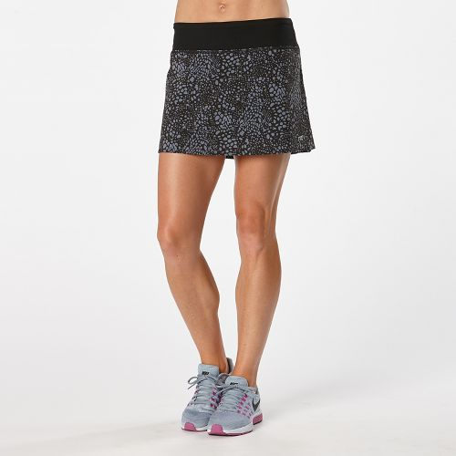 Womens R-Gear School 'Em Printed Skort Fitness Skirts - Black/Grey Mist Dot XL