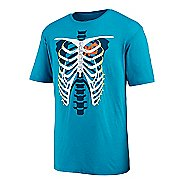 Mens Saucony Skeleton XC Graphic Short Sleeve Technical Tops