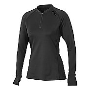 Womens 2XU Hyoptik Zip Thru Long Sleeve Technical Tops