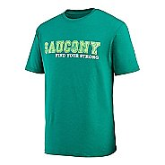 Mens Saucony FYS Graphic Short Sleeve Technical Tops
