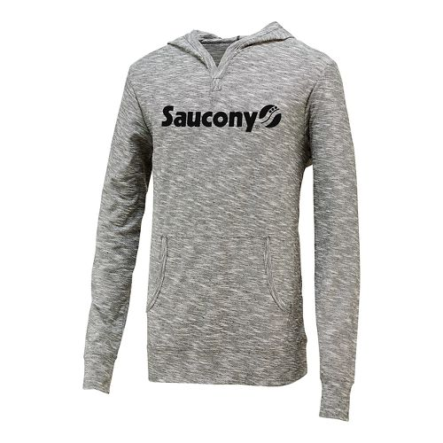Mens Saucony Originals Graphic Hoodie Long Sleeve Hooded Technical Tops - Element S