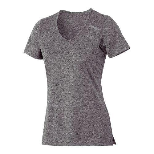 Womens 2XU Movement Tee Short Sleeve Technical Tops - Ink/Moon Grey XS