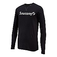 Mens Saucony Originals Graphic Long Sleeve Technical Tops