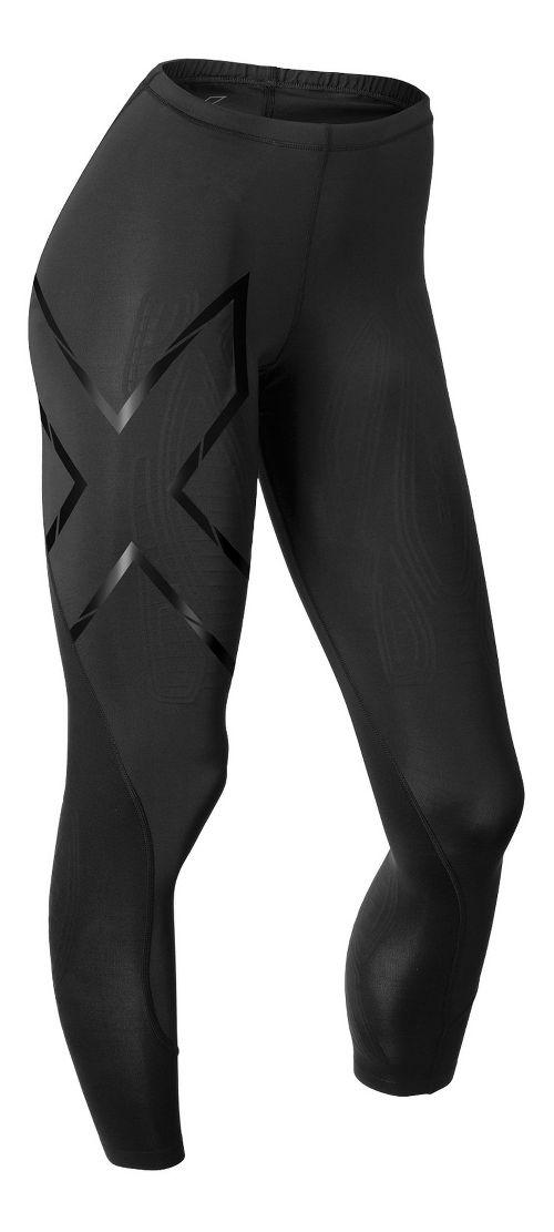 Womens 2XU Elite MCS Thermal Compression Tights & Leggings Tights - Black/Nero L