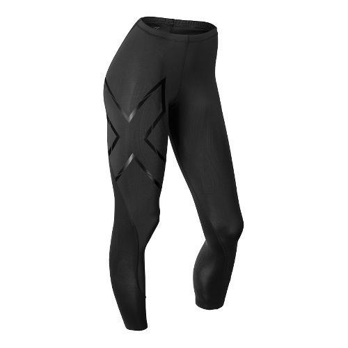 Womens 2XU Elite MCS Thermal Compression Tights & Leggings Tights - Black/Nero L