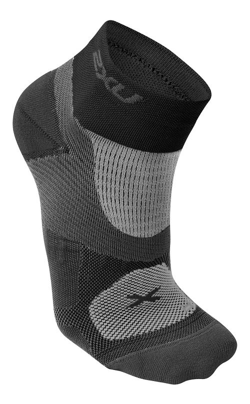 Womens 2XU Elite Training Sock Injury Recovery - Black/Black M