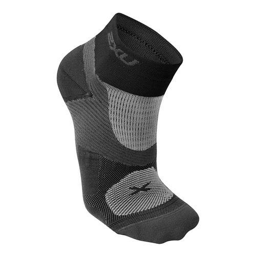 Womens 2XU Elite Training Sock Injury Recovery - Black/Black S