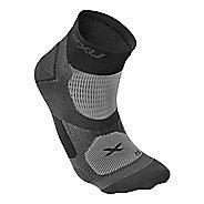 Mens 2XU Elite Training Sock Injury Recovery - Black/Dark Titanium S