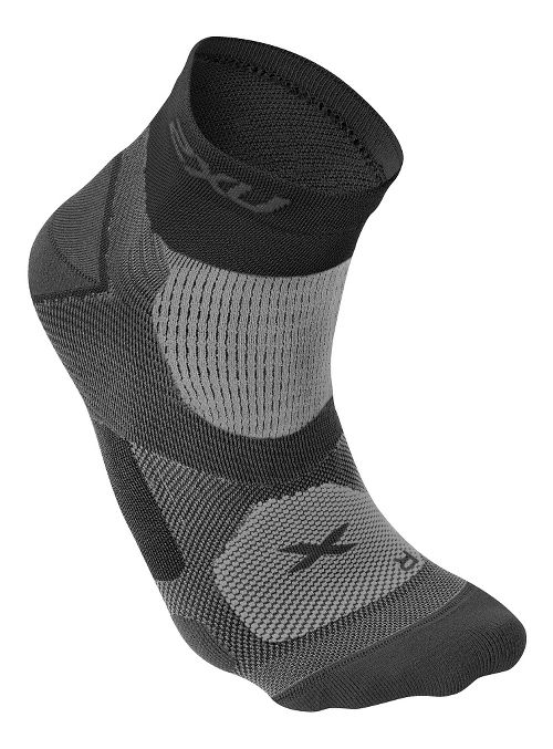 Mens 2XU Elite Training Sock Injury Recovery - Black/Dark Titanium S