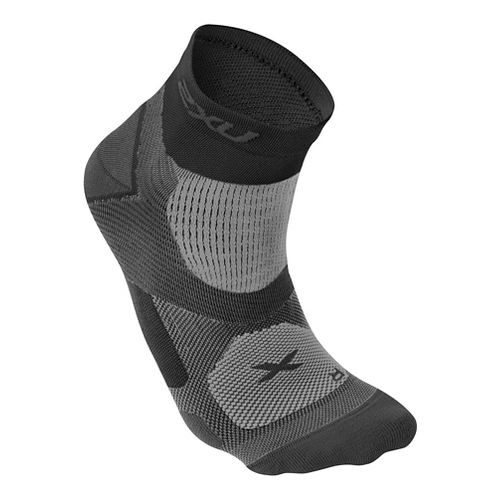 Mens 2XU Elite Training Sock Injury Recovery - Black/Dark Titanium L