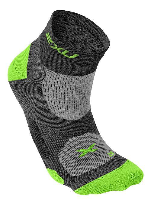 Mens 2XU Elite Training Sock Injury Recovery - Black/Fluro Lime S