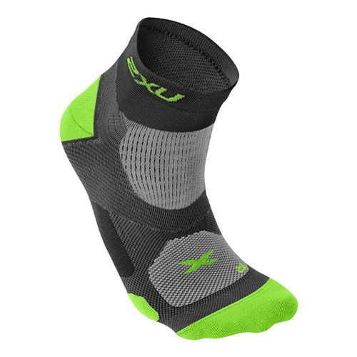 Mens 2XU Elite Training Sock Injury Recovery - Black/Fluro Lime S