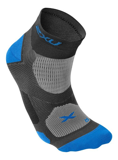 Mens 2XU Elite Training Sock Injury Recovery - Black/Vibrant Blue L