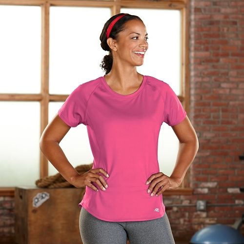 Womens R-Gear Fast and Fab Short Sleeve Technical Tops - Bubble Gum L