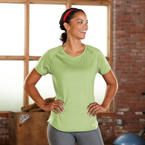 Womens R-Gear Fast and Fab Short Sleeve Technical Tops - Lemon Lime M