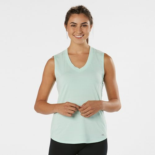 Womens Road Runner Sports Finish First Sleeveless & Tank Technical Tops - Sea Glass XL ...