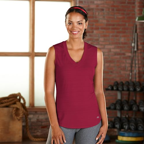 Womens Road Runner Sports Finish First Sleeveless & Tank Technical Tops - Ruby XS