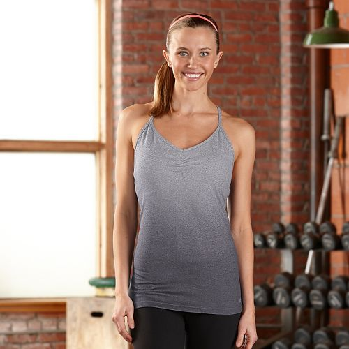Womens R-Gear Power Pose Bra Sleeveless & Tank Technical Tops - Dove Grey/Charcoal S