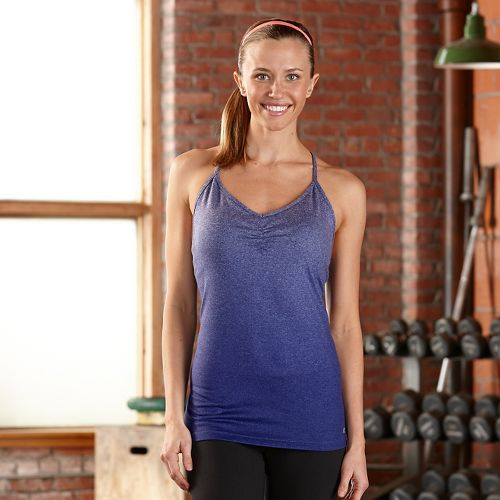 Womens R-Gear Power Pose Bra Sleeveless & Tank Technical Tops - Heather Sapphire XL