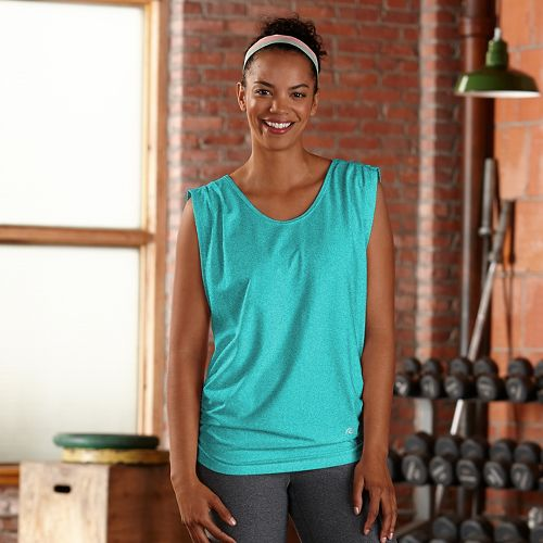 Womens R-Gear Standout Sleeveless & Tank Technical Tops - Heather Aqua Sea XS