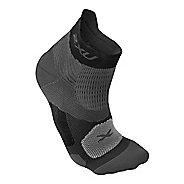 Mens 2XU Elite Racing Sock Injury Recovery - Black/Black S