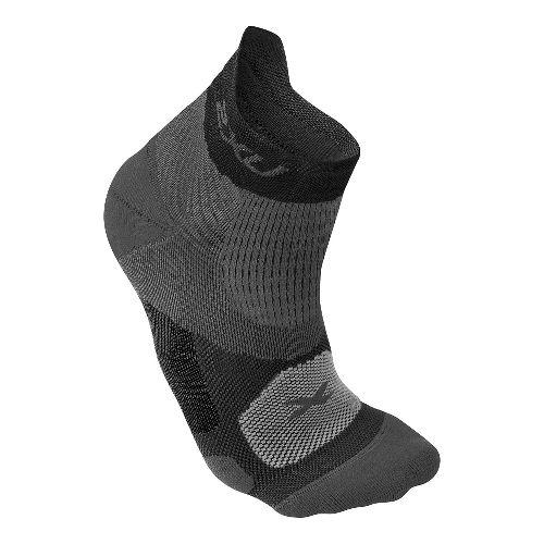 Mens 2XU Elite Racing Sock Injury Recovery - Black/Black L
