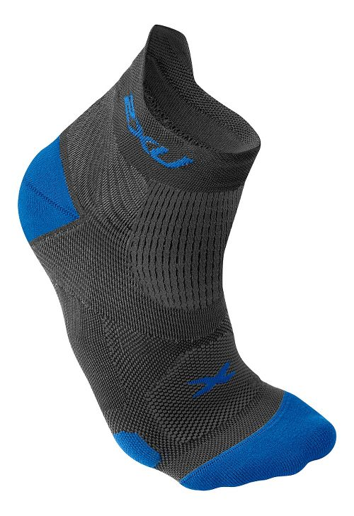 Mens 2XU Elite Racing Sock Injury Recovery - Dark Titanium/Blue S