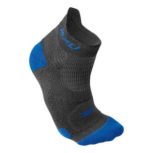 Mens 2XU Elite Racing Sock Injury Recovery - Dark Titanium/Blue M