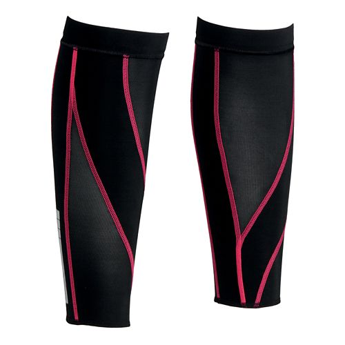 CW-X Stabilyx Calf Sleeves Injury Recovery - Black/Raspberry S