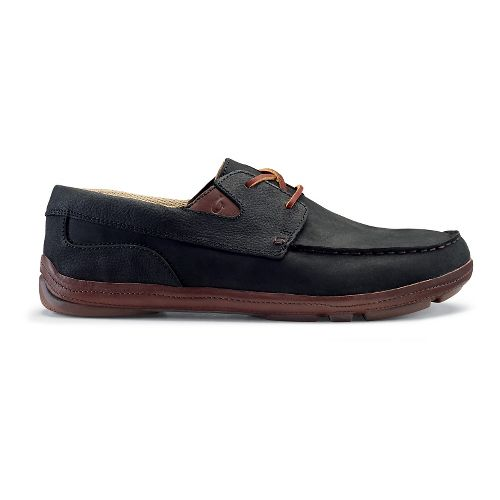 Mens OluKai Mano Casual Shoe - Black/Kona Coffee 13