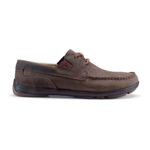 Mens OluKai Mano Casual Shoe - Dark Wood/Dark Wood 9