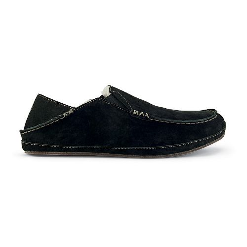 Mens OluKai Moloa Slipper Casual Shoe - Black/Black 9