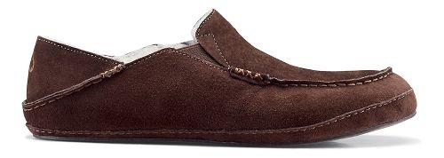 Mens OluKai Moloa Slipper Casual Shoe - Dark Java/Dark Java 14