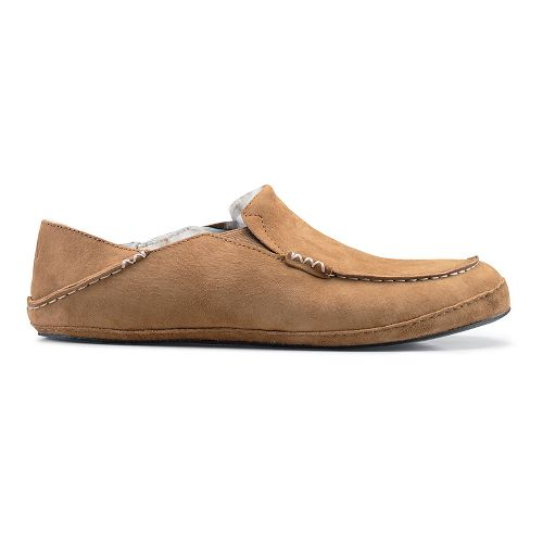 Mens OluKai Moloa Slipper Casual Shoe - Tobacco/Tobacco 8