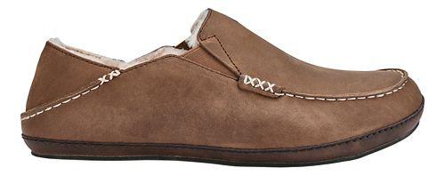 Mens OluKai Moloa Slipper Casual Shoe - Toffee/Dark Wood 13