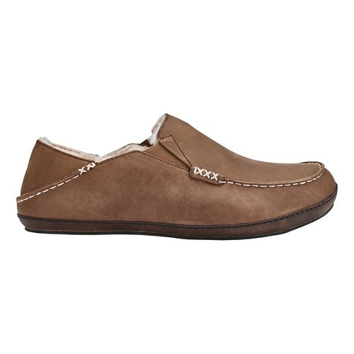 Mens OluKai Moloa Slipper Casual Shoe - Toffee/Dark Wood 8