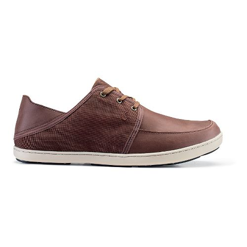 Mens OluKai Nohea Lace Leather Casual Shoe - Kona Coffee 11