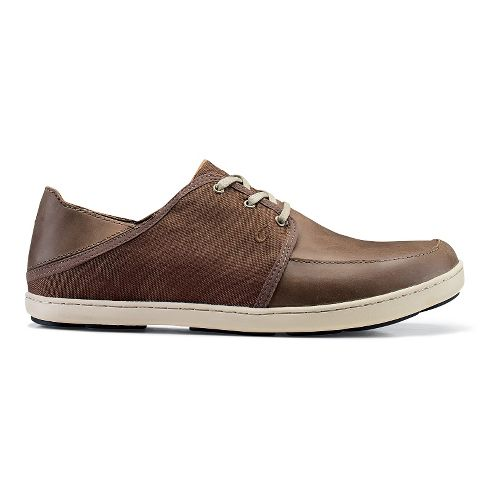 Mens OluKai Nohea Lace Leather Casual Shoe - Mustang/Mustang 8.5