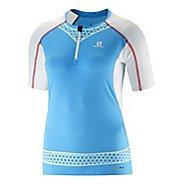 Womens Salomon S-Lab EXO Zip Tee Short Sleeve Technical Tops