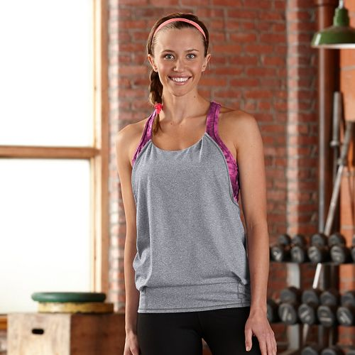 Womens R-Gear Earn It Bra Sleeveless & Tank Technical Tops - Heather Dove Grey M